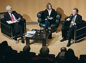 Axel Pohlmann. Gisela Steinhauer, Franz Müntefering (v.l.)