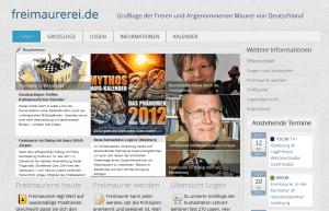 Aktuelle Website nach der Überarbeitung 2012