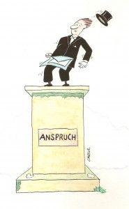 Anspruch, Karikatur von Carlos Urban