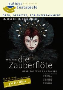 Plakat Zauberflöte Freilichtbühne Eutin 2013