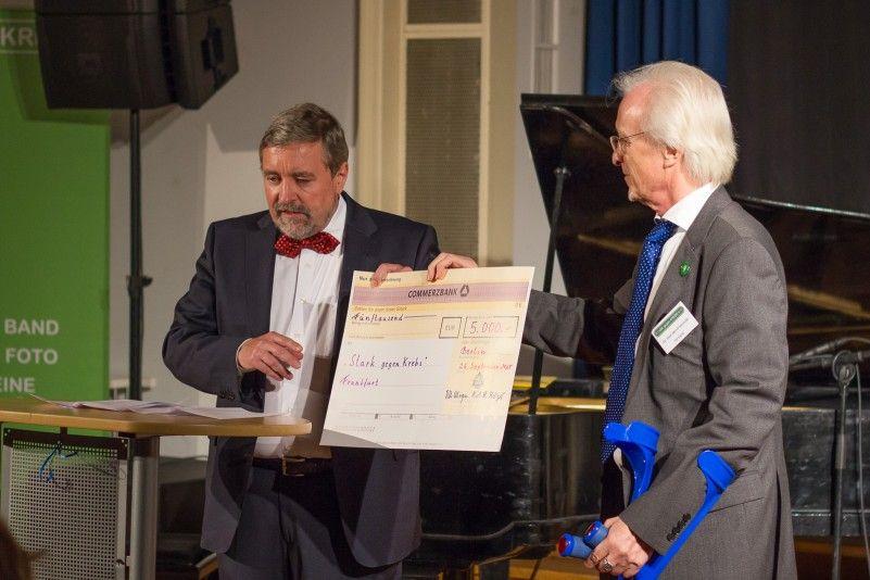 Prof. Dr. Stephan Roth-Kleyer, Großmeister der Großloge A.F.u.A.M.v.D., und Dr. Bernd Schmude, Vorsitzender des Vereins