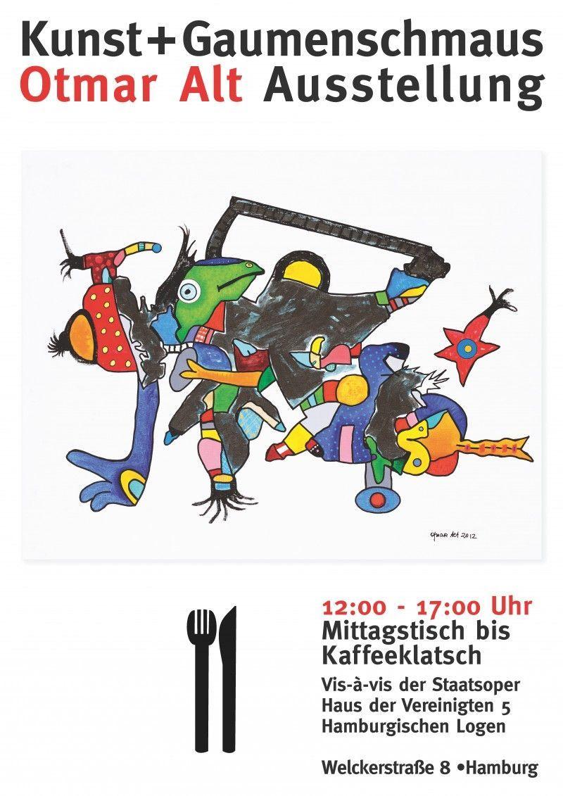 Plakat zur Otmar-Alt-Ausstellung unter dem Motto
