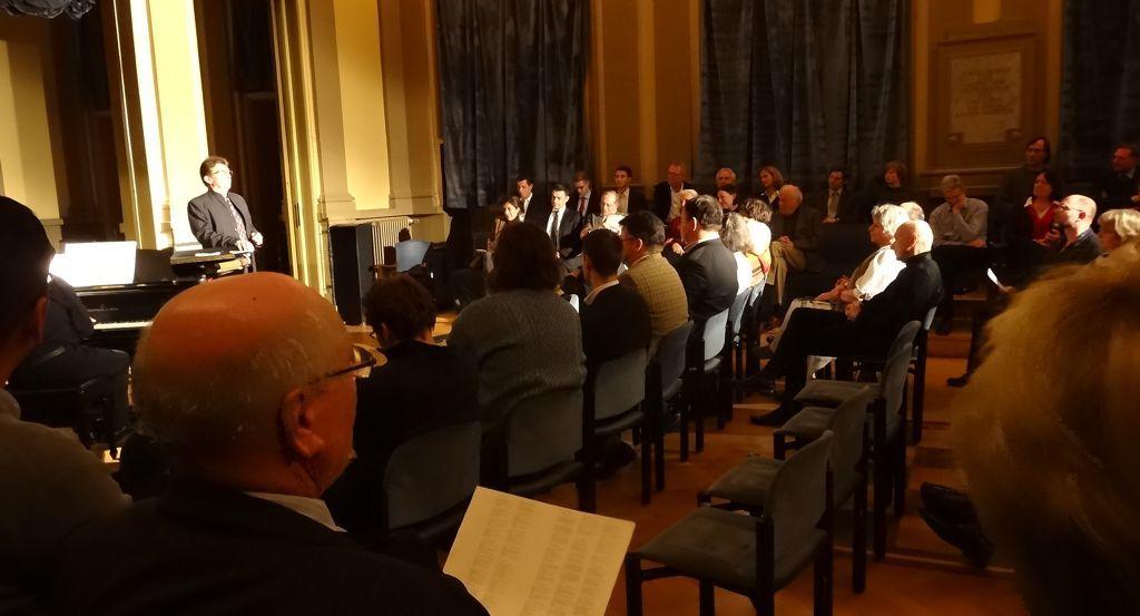 Aufführung des Liederzyklus von Franz Schubert in der Frankfurter Loge