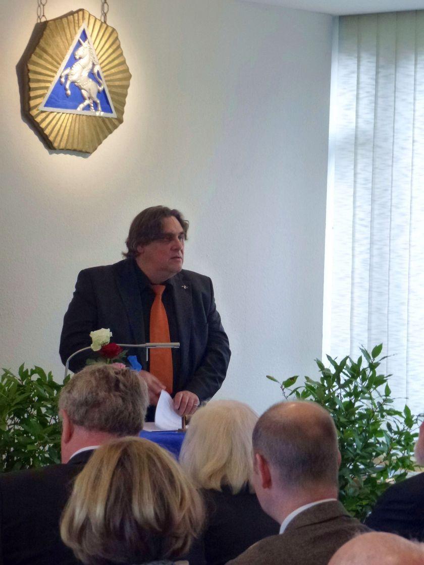 Festredner Cornelius Rinne beim Neujahrsempfang 2016 in Nienburg