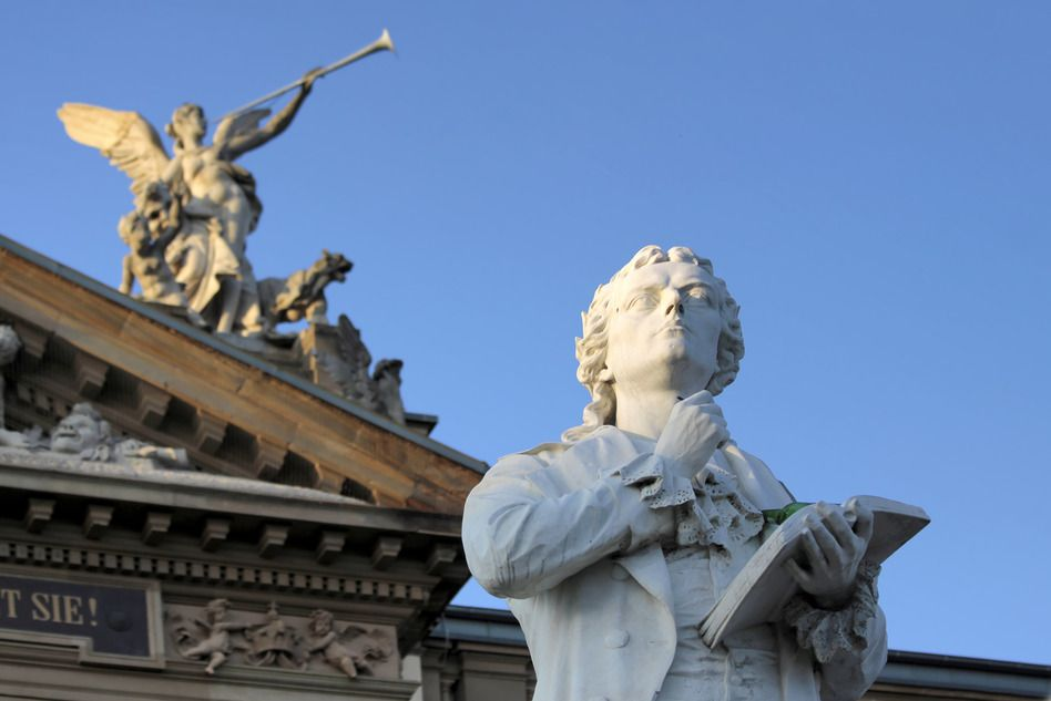 Schiller-Statue in WIesbaden
