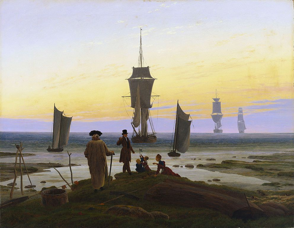 Caspar David Friedrich: Die Lebensstufen, um 1835  [Public domain], via Wikimedia Commons