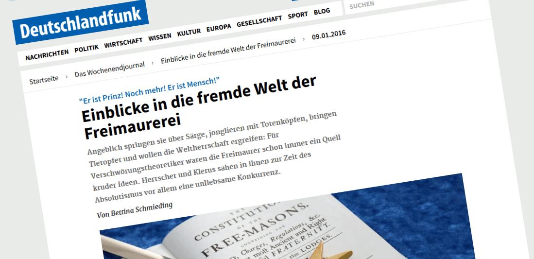 Freimaurer im Deutschlandfunk