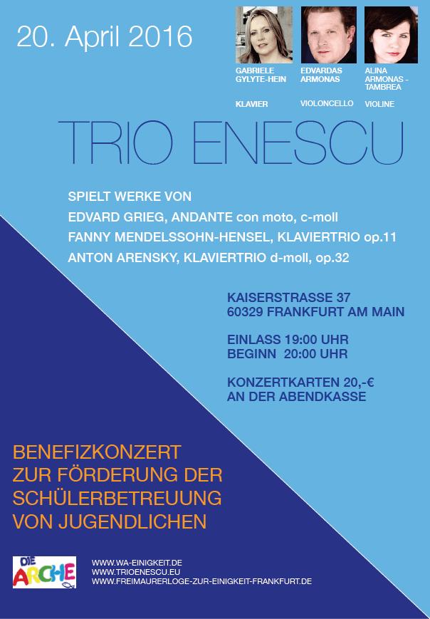 Benefizkonzert Trio Enescu