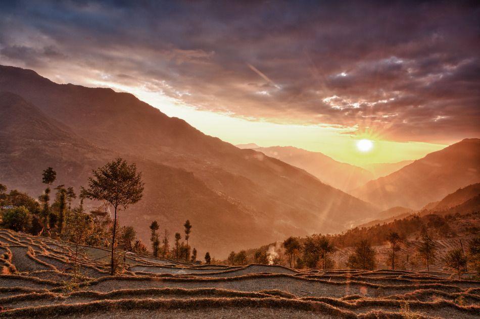 Bilck in ein Tal bei Kathmandu