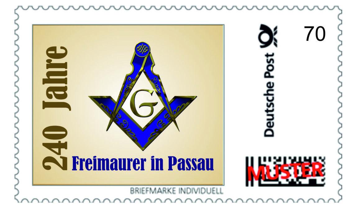 Sondermarke der Passauer Freimaurerloge