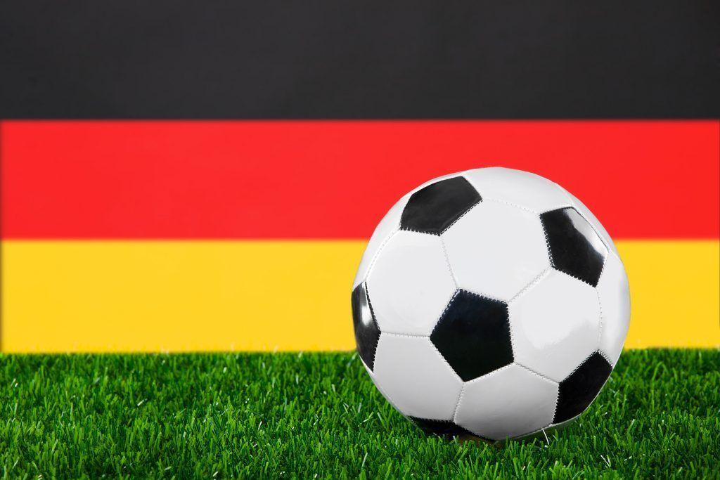 Deutsche Fahne und Fußballmeisterschaft