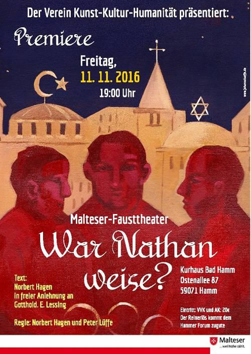 Plakat des Malteser Fausttheaters Hamm zum Stück