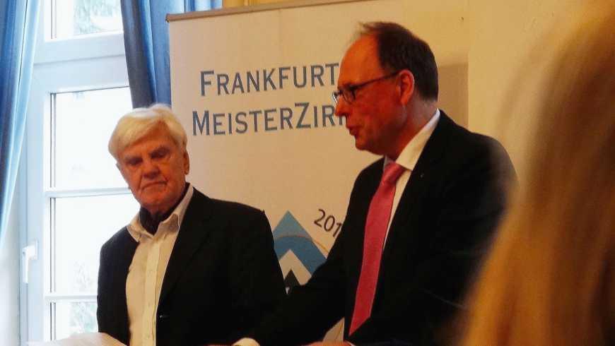 Eberhard Panne und Rolf Keil beim Empfang des Frankfurter Meisterzirkels 2017