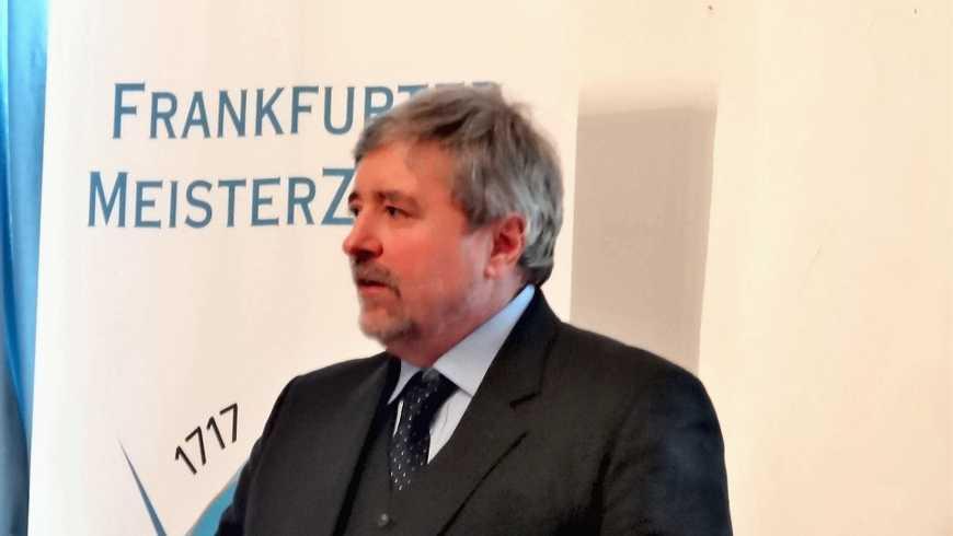 Prof. Dr. Stephan Roth-Kleyer, Großmeister der Großloge A.F.u.A.M.v.D beim Frankfurter Meisterzirkel
