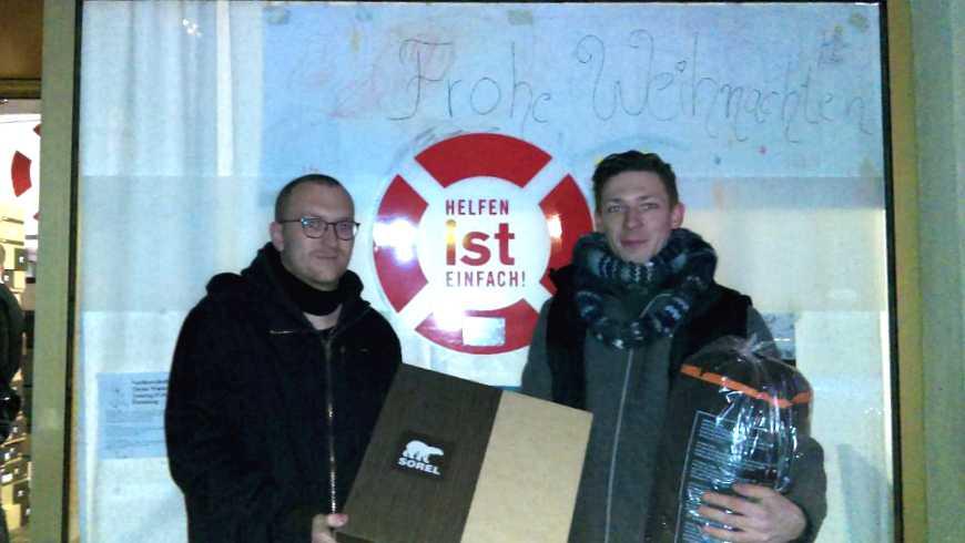 Übergabe der Spende an die Berliner Obdachlosenhilfe am 6. Dezember 2016