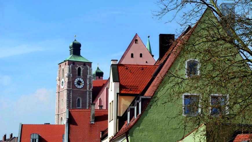 Ingolstadt mit Blick auf dasLiebfrauenmünster