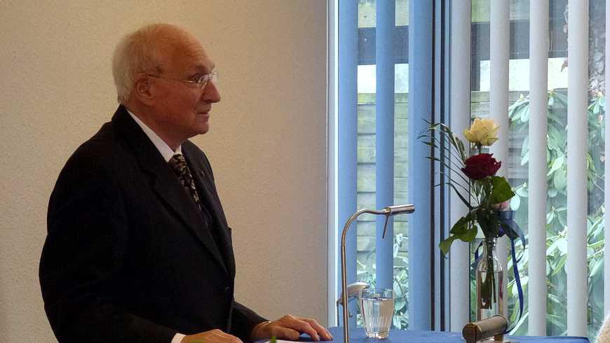"""Der Festreddner Prof. Dr. med. Bernhard L. Bauer als Festredner auf dem Neujahrsempfang der Nienburger Loge """"Georg zum Silbernen Einhorn"""""""