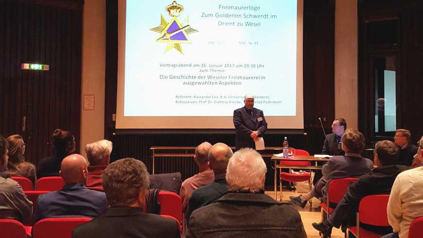 Vortrag über die Weseler Loge