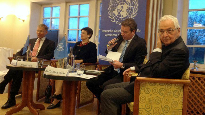 v.l. Dr. Ekkehard Griep, Angela Kane, Andreas Franke, Prof. Dr. Klaus Töpfer