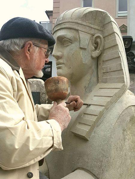 Restaurierte Sphinx