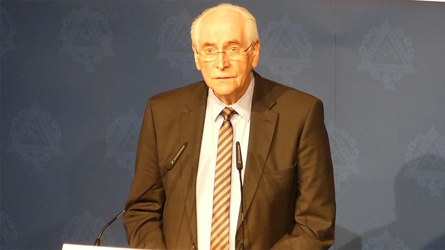 Rolf Wernstedt als Referent beim Festakt der Vereinigten Großlogen in Hannover