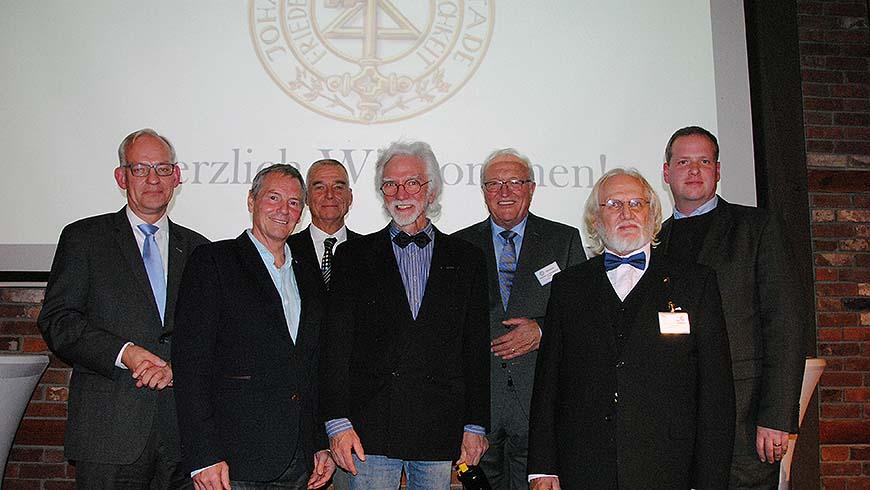 Die Referenten (v.l.) Thomas Stuwe, Rolf Grußendorf, Hans-Christian Esken, Jens Rusch, Gerd Carlson, Hellmut von Blücher und Patrick Beier