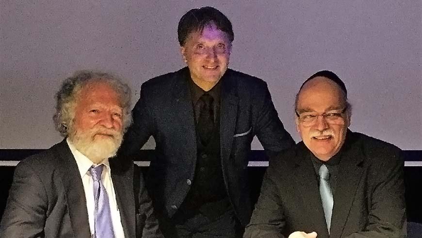 v.r.: Rabbi Prof. Dr. Nachama, Elmar Vogel (Meister der Loge), Dr. Friedmann Görbing (Meister der Forschungsloge)