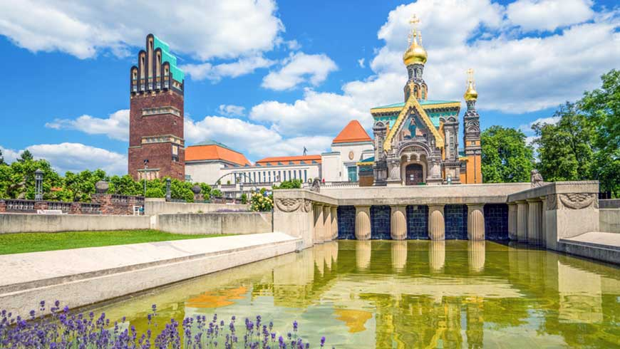 Darmstadt Mathildenhöhe Foto: fotolia, pure-life-pictures