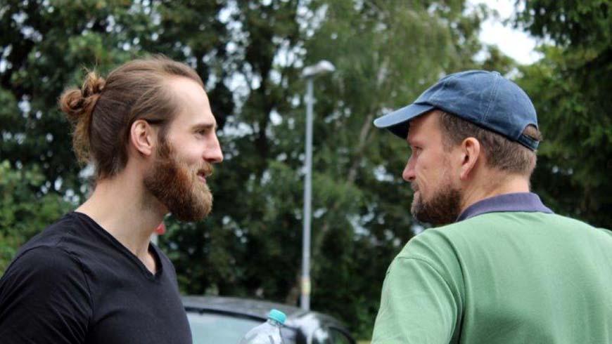 Hauptdarsteller Michael Mölders + Regisseur Alexander Waldhelm