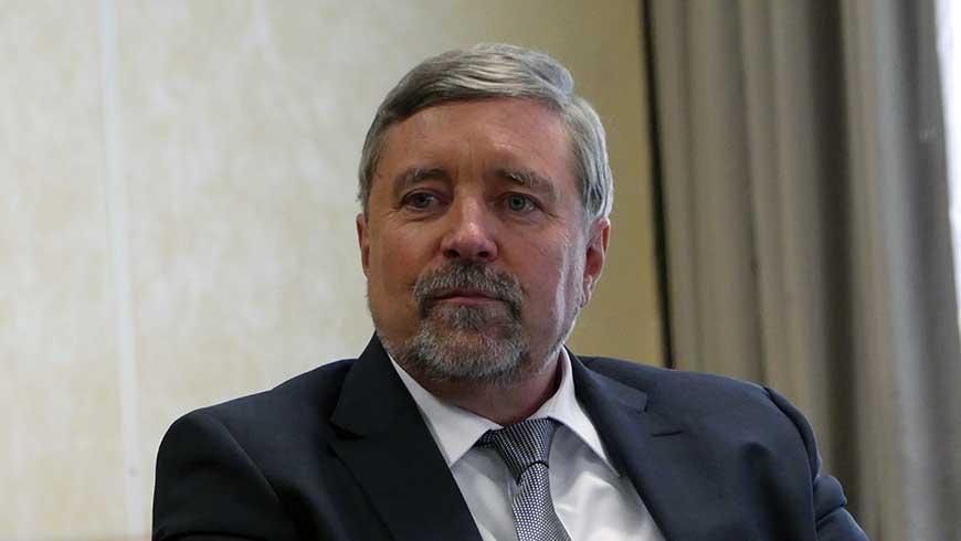 Großmeister Stephan Roth-Kleyer (Pressekonferenz Dresden)