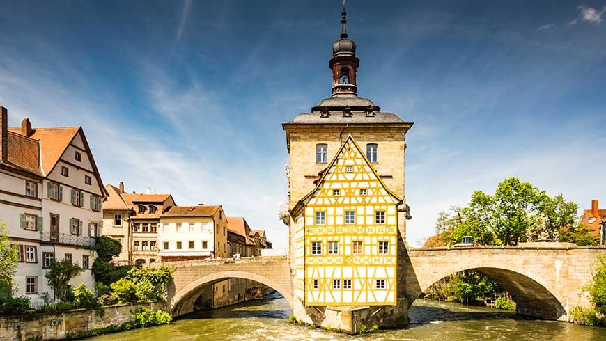 Das historische Rathaus in Bamberg