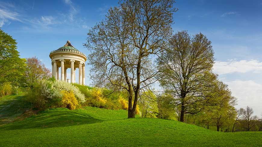 Monopterus-Tempel im Englischen Garten, München