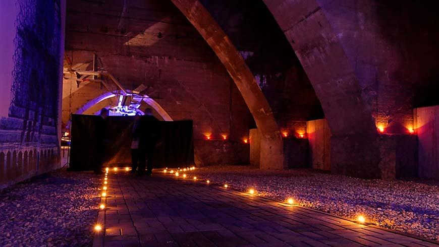 Der Kellerbereich des Völkerschlachtdenkmals