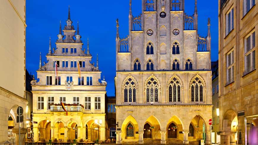 Das historische Rathaus in Münster, einer der Schauplätze des Westfälischen Friedens