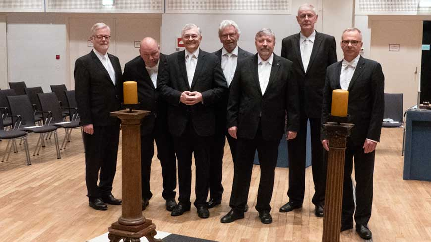 v.l.n.r. Rainer Koch (Zugeordneter Großmeister), Joachim Kletzin (Großkanzler), Thomas Wagner (Großschatzmeister), Hasso Henke (Zugeordneter Großmeister), Stephan Roth-Kleyer (Großmeister), Karl-Henning Kröger (Zugeordneter Großmeister), Stefan Kunnert (Zugeordneter Großmeister)
