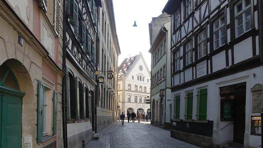 Die große und gut erhaltene Altstadt Bambergs mit ihren idyllischen Straßenzügen und Gassen verzauberte auch die Gäste des Großlogentages.