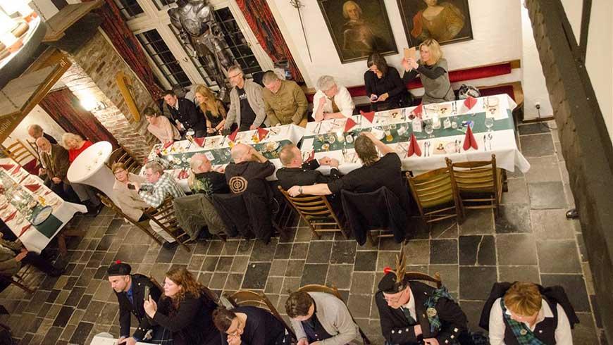 Burns Supper in der Tenne des Wyndham Garden Hotel Gummersbach, Foto: Friederike Römer