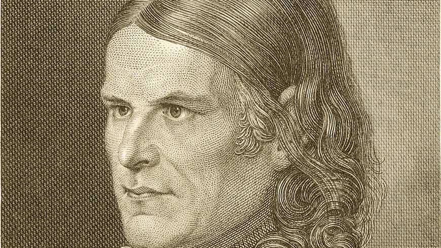 Friedrich Rückert um 1850 – Kupferstich von Carl Barth (Quelle: Wikimedia Commons, Kunstsammlungen der Veste Coburg)