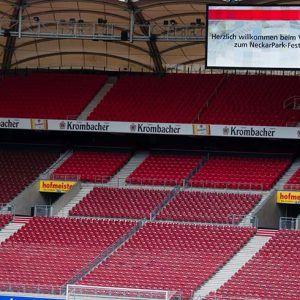 Das Stuttgarter Stadion mit leeren Rängen