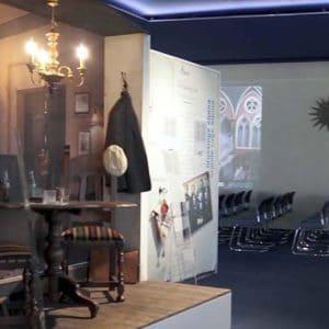 Szene aus dem virtuellen Rundgang im Freimaurermuseum Schweiz