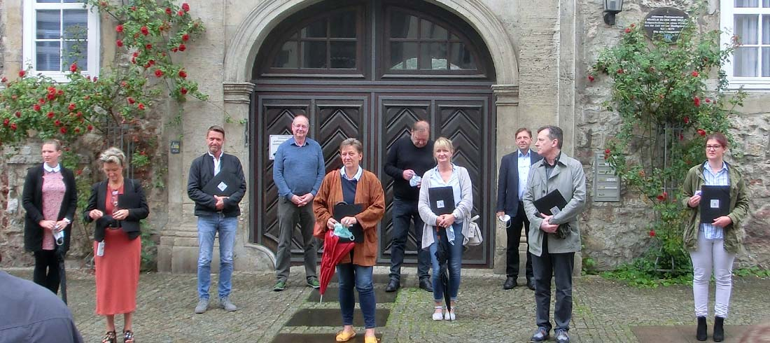 Wolfenbütteler Freimaurer spenden an Mitarbeiter von Pflegeheimen