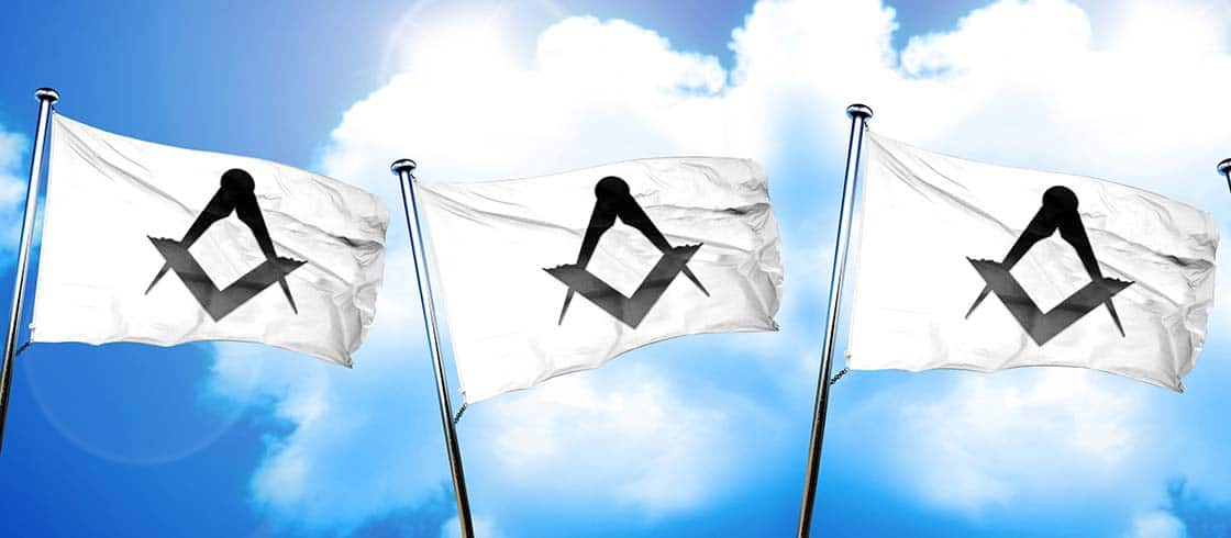 freemason sign flag, 3D rendering